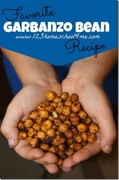 Family Favorite GARBANZO Bean recipe - Garbanzo nuts! A healthy, satisfying snack with a fantastic flavor!! #snackforkids #recipe #healthy