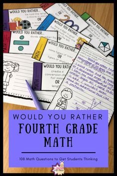 Math Would You Rather Fourth Grade Bundle 4th Grade Multiplication, Fourth Grade Math, Upper Elementary, Elementary Schools, Would You Rather Questions, This Or That Questions, Classroom Routines, Classroom Ideas, Math Activities