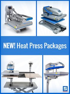 Choose from our four heat press machine packages, designed to give you the heat press, accessories, and training you need while saving you hundreds of dollars. Each package includes a heat press, platens, accessories, pre-cut numbers, and training that will help you excel in your heat printing business.