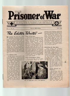 THE PRISONER OF WAR JUNE 1944  OFLAG IVC COLDITZ PHOTO ON OFFICIAL REPORTS PAGE