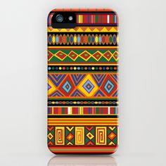 Ethnic Colorful Pattern Africa Art iPhone Case by Bluedarkat Lem - $35.00