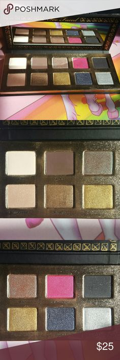 Too Faced Pretty Rebel eyeshadow palette Brand new, barely used Too Faced Makeup Eyeshadow