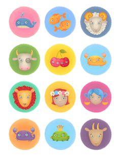 В этом уроке вы узнаете, как создать набор забавных мультяшных иконок со знаками зодиака.
