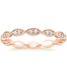 14K Rose Gold Cadenza Eternity Diamond Ring (1/4 ct. tw.), top view