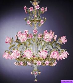 Venetian Glass Chandelier   Beautiful!  Buy in Venice and Ship Home, worth the price.