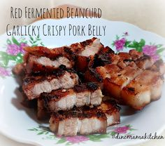 We are the DinoFamily 我們是恐龍家族: Foodie Fridays - Red Fermented Beancurd Garlicky Crispy Pork Belly Crispy Pork, Pork Belly, Pork Recipes, Family Life, Singapore, Foodies, Dishes, Baking, Eat