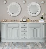 Stunning painted timber vanity, designed and installed by Surrey Furniture