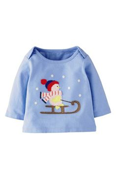 Mini Boden 'Festive' Appliqué Tee (Baby Girls) available at #Nordstrom