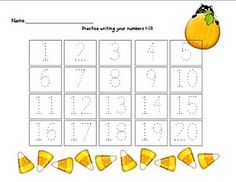 practice writing numbers