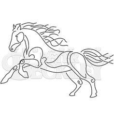 Epona Horse Celtic Pagan Machine by TheArtofPeterBeckley on Etsy, $2.00 @Kim Kosirog inspiration? wow