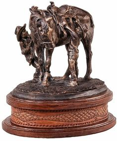 Bound and Determined Western Cowboy Figurine Sculpture Statue Statuary available at AllSculptures.com