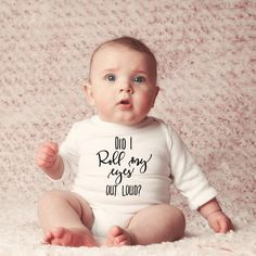 Baby onesies - Did I roll my eyes out loud bodysuit- Baby shower gift How To Express Feelings, Feelings And Emotions, Life Photo, Unique Baby, Out Loud, Baby Bodysuit, My Eyes, Baby Shower Gifts, Onesies