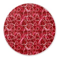 Valentine Hearts Scribbles Ruby Red