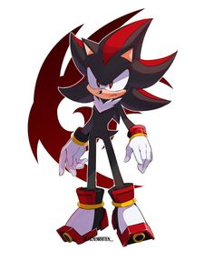 shadow the hedgehog by chickenramendevi on DeviantArt Shadow The Hedgehog, Sonic The Hedgehog, Hedgehog Art, Silver The Hedgehog, Sonic Dash, Sonic And Amy, Shadow And Amy, Rouge The Bat, Sonic Heroes