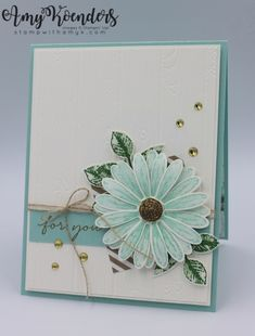 CAS For You Daisy Card by amyk3868 - at Splitcoaststampers