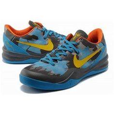 http://www.asneakers4u.com/ Nike Zoom Kobe 8 VIII Lifestyle Blue/Gray/Yellow Sale Price: $65.80