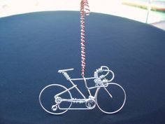 """UNIQUE Bicycle Christmas Tree Ornaments Decorations Gifts - HANDMADE """"Candy Cane"""" Freedom Road Bike Cycling Art Decor - Unique ..."""