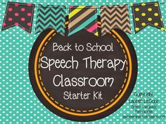 Busy Bee Speech: Back-To-School Speech Therapy Classroom Kit