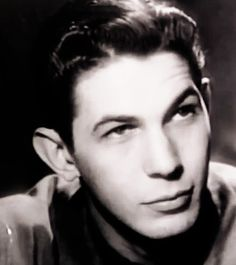 Young Leonard Nimoy. //  I always thought he was so handsome!  It's been a little over a year since we lost him. :(   2.27.2016