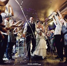 100 Hand Rolled Streamers - Wedding Exit - Layered Metallic without Finger Loop
