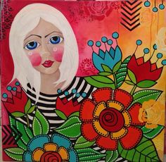 """Monika Dabrowska-Ejmont painting """"Lucy""""   acrylic on canvas"""