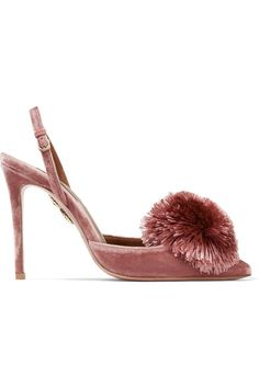 Heel measures approximately 105mm/ 4 inches Antique-rose velvet Buckle-fastening ankle strap Made in Italy
