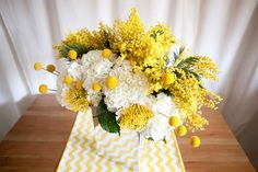 The cutest yellow flower : billy buttons or billy balls for weddings — Brenda's Wedding Blog - affordable wedding ideas for planning elegant weddings