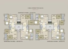New Ideas Apartment Building Design Architecture Floor Plans Building Layout, Building Plans, Building Design, The Plan, How To Plan, Architecture Plan, Residential Architecture, Residential Building Plan, Flat Plan