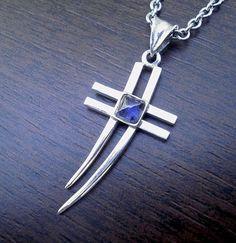 Resultado de imagem para cross pendant silver tourmaline