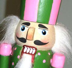 Pink & green nutcracker !