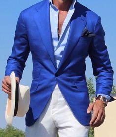 #bluesuitjacket #openbuttondown #unbuttoned #Hugoboss2016 #marioa