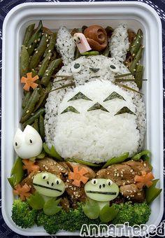 Rainy Day Totoro bento! by Annathered