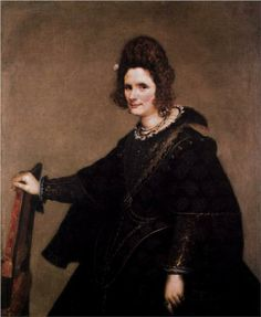 "Diego Velázquez Portrait of a Lady, ca. Gemäldegalerie, Staatlichen Museen zu Berlin ""The sitter is thought to be Leonor de Guzmán y Pimentel wife of Manuel de Acevedo y Zúñiga, Count of Monterrey, and sister of the. Spanish Painters, Spanish Artists, Manet, Baroque Fashion, European Fashion, Diego Velazquez, Esteban Murillo, Madrid, 17th Century Fashion"