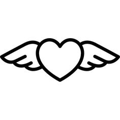 Heart with Wings free vector icons designed by Freepik Cute Little Drawings, Mini Drawings, Cute Easy Drawings, Cute Kawaii Drawings, Cool Art Drawings, Pencil Art Drawings, Art Drawings Sketches, Doodle Drawings, Animal Drawings