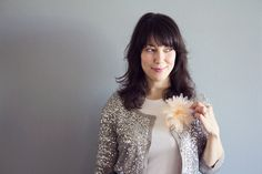 DIY Flower Pom Pin | Lovely Indeed