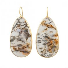 LOLA BROOKS MOSS AGATE EARRINGS