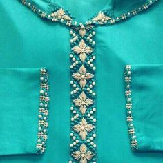 R Zardozi Embroidery, Hand Work Embroidery, Hand Embroidery Designs, Embroidery Dress, Embroidery Thread, Embroidery Applique, Beaded Embroidery, Embroidery Patterns, Kurta Designs