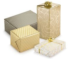 Stella gift wrap in 4 contemporary designs