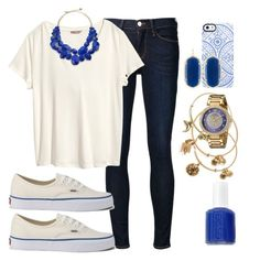 """Casual"" by l-deutsch99 on Polyvore featuring Frame Denim, H&M, Uncommon, Essie, Alex and Ani, Vans, Juicy Couture, Kendra Scott and Kate Spade"