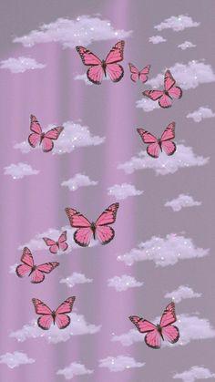 Beste Iphone Wallpaper, Iphone Wallpaper Glitter, Cartoon Wallpaper Iphone, Iphone Wallpaper Tumblr Aesthetic, Homescreen Wallpaper, Iphone Background Wallpaper, Retro Wallpaper, Aesthetic Pastel Wallpaper, Purple Butterfly Wallpaper