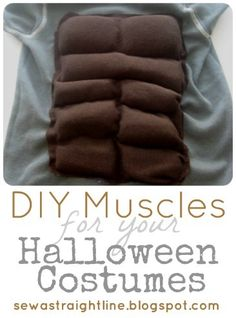 DIY Muscles for Halloween Costumes by Sew a Straight Line...fun & easy for so many different costumes!