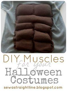 DIY Muscles for Costume se puede usar para una temática playera, con un castillo…
