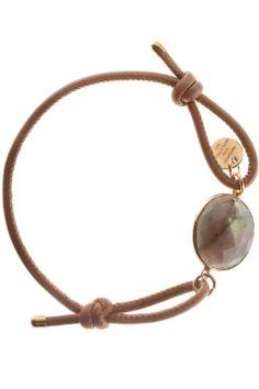 #brown leather bracelet with faceted gemstone I designed by marjana von berlepsch I NEWONE-SHOP.COM