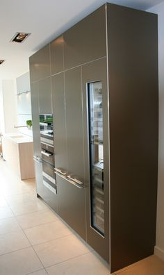 Our new Sand Beige Aluminium Display is complete! Come and see it at bulthaup Winchester. Showroom, Winchester, Kitchens, Metallic, Closet, Beige, Display, Home Decor, Floor Space