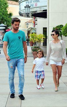 Kourtney Kardashian with Scott and Mason Disck   Celebrity-gossip.net