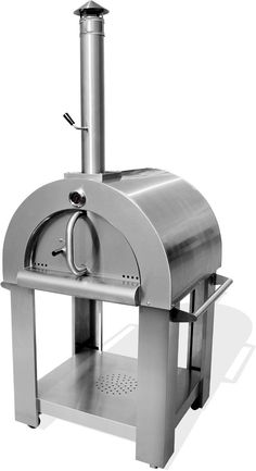 Artisan Pizza Oven Stove Outdoor Stainless Steel Wood Fired Grill - Grilling and outdoor cooking - Forno Receitas Wood Fired Oven, Wood Fired Pizza, Pizza Oven Outdoor, Outdoor Cooking, Outdoor Kitchens, Metal Shop Building, Artisan Pizza, Four A Pizza, Fire Grill
