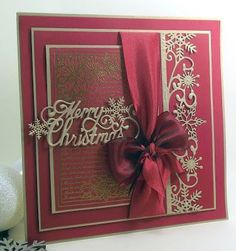 1000+ images about Cards, Christmas cards I love on Pinterest ...Think it's Chocolate Baroque stamp. Memory box border