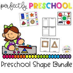 Ultimate Preschool and Kindergarten Shape Pack Preschool Class, Kindergarten, Shape Books, Shape Posters, Fine Motor Skills, Shape Activities, Teacher, Shapes, Children