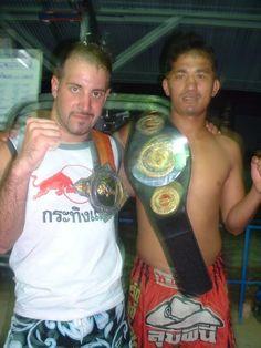 Training Muay Thai with World Champion Chin , Koh Panghan Thailand 2004