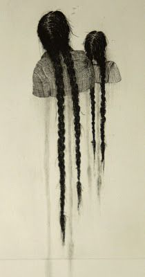 Aline Eras: 2012. 'Melancholy 3'. Line etching,dry point & pencil on paper.